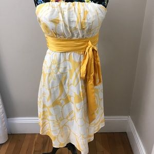 Limited yellow and cream dress size 8
